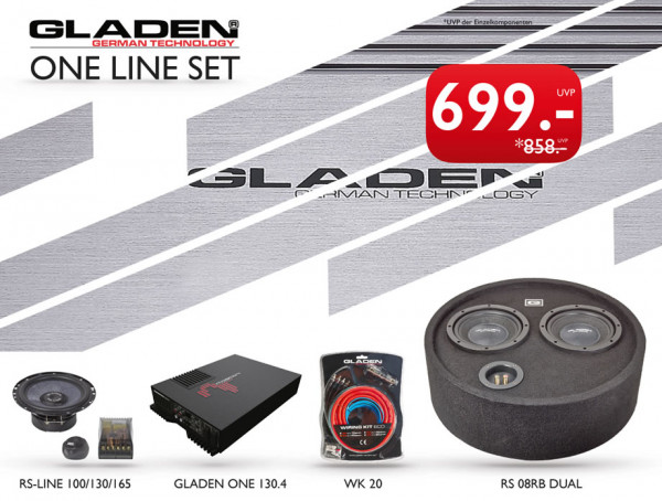 Gladen ONE-Line Set Komplett Sound Paket