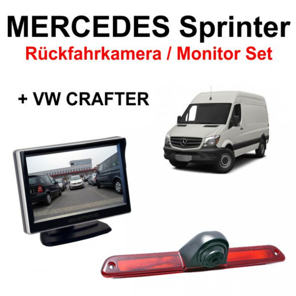r ckfahrkamera monitor set f r mercedes sprinter vw. Black Bedroom Furniture Sets. Home Design Ideas
