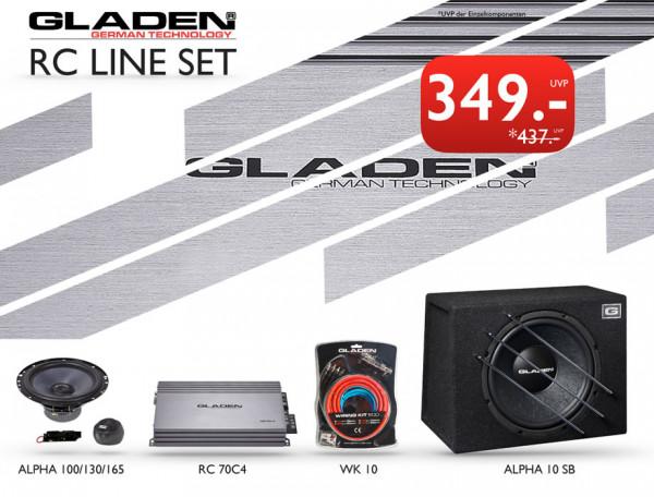 Gladen RC-Line Set Komplett Sound Paket