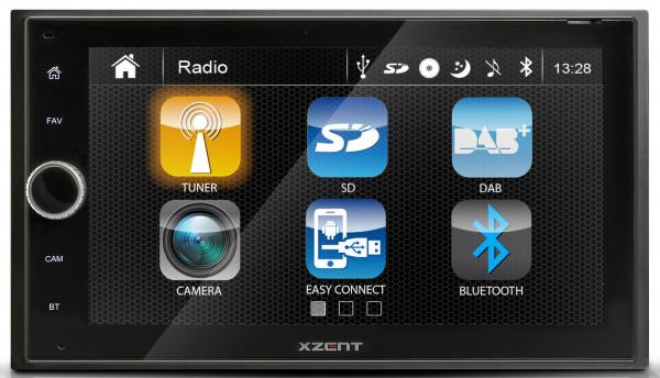 Xzent X-422 DAB+ USB Bluetooth optional Navigation