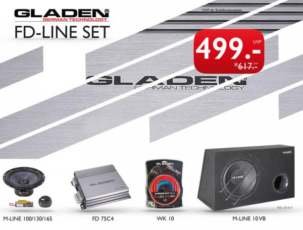 Gladen FD-Line Set Komplett Sound Paket